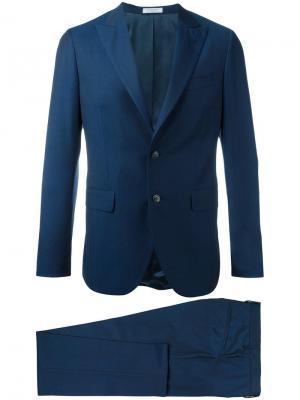 Классический костюм Boglioli. Цвет: синий