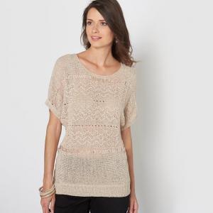 Пуловер трикотажный ANNE WEYBURN. Цвет: бежевый,черный