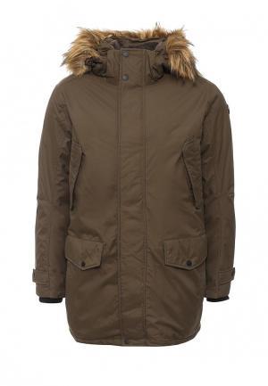Куртка утепленная Luhta. Цвет: хаки