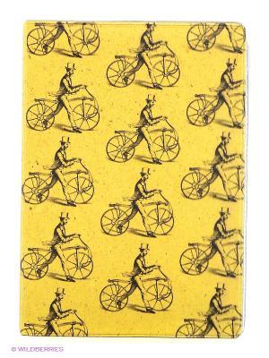 Обложка для автодокументов Ретро-велики на песочном Mitya Veselkov. Цвет: желтый, антрацитовый