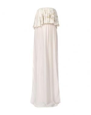 Длинное платье MONICA •LENDINEZ. Цвет: белый