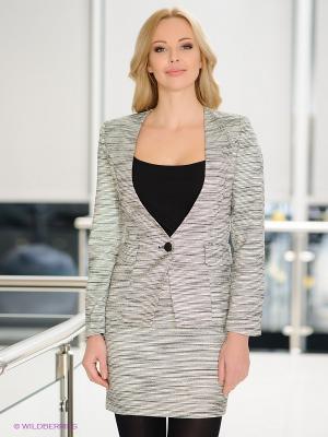 Пиджак EZANNA. Цвет: серый