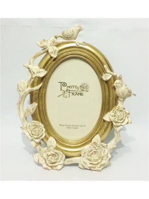 Фоторамка декоративная Розы и птицы Magic Home. Цвет: кремовый