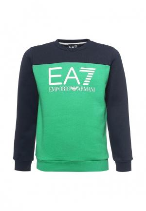 Свитшот EA7. Цвет: зеленый