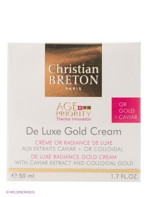 Крем Золотая роскошь для увядающей кожи Christian Breton, 50мл, Paris Breton. Цвет: молочный