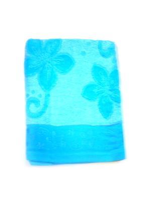 Полотенце Рельеф 70х140 La Pastel. Цвет: голубой
