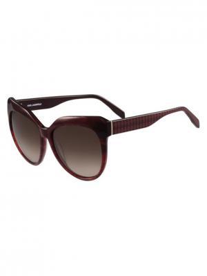 Очки солнцезащитные KL 930S 151 Karl Lagerfeld. Цвет: бордовый