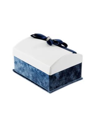Шкатулка для ювелирных украшений Русские подарки. Цвет: синий,кремовый,белый