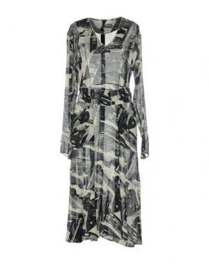 Платье длиной 3/4 VERONIQUE LEROY. Цвет: темно-синий