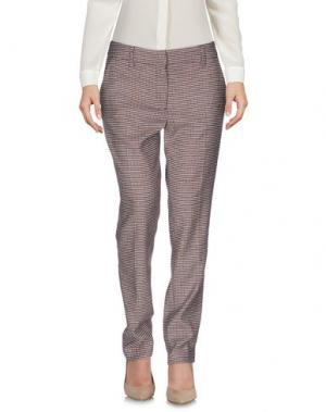 Повседневные брюки NIU'. Цвет: коричневый