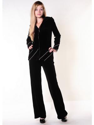 Велюровый костюм Тефия. Цвет: черный, розовый