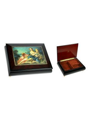 Шкатулка для ювелирных украшений MERCANTE. Цвет: коричневый, темно-коричневый