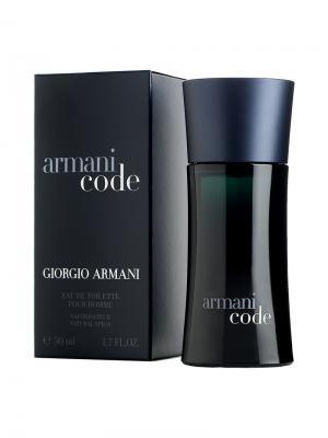 Code men, Туалетная вода, 50 мл Armani. Цвет: черный