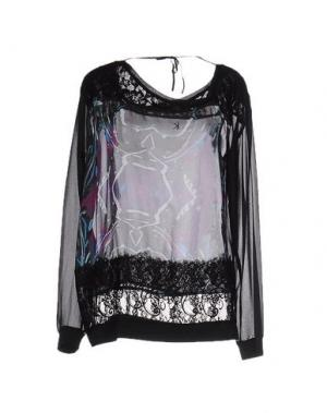 Блузка KORALLINE. Цвет: черный
