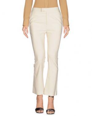 Повседневные брюки FUZZI. Цвет: слоновая кость