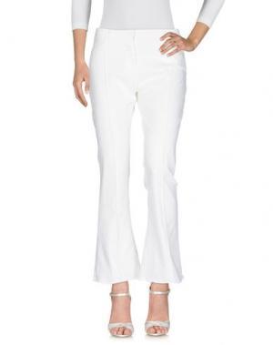 Джинсовые брюки SOALLURE. Цвет: белый