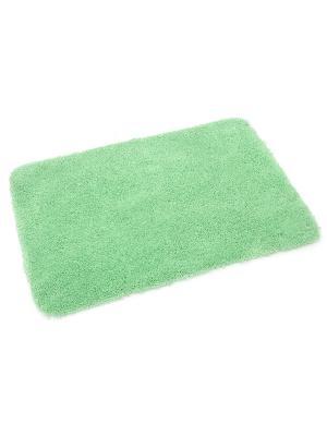 Мягкий коврик для ванной комнаты 60х90 см Silenzio green WESS. Цвет: зеленый