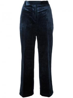 Укороченные бархатные брюки 3.1 Phillip Lim. Цвет: синий