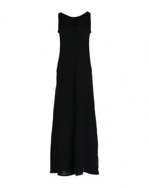 Длинное платье PUROTATTO. Цвет: черный