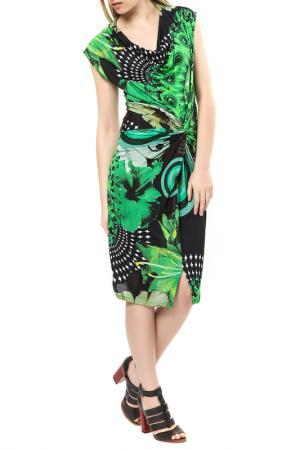Платье Desigual. Цвет: black and green