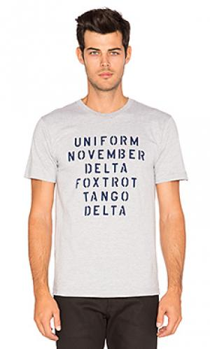 Футболка military alphabet Undefeated. Цвет: серый