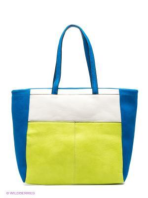 Сумка Vitacci. Цвет: синий, салатовый, белый
