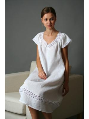 Ночная сорочка LINO RUSSO. Цвет: белый