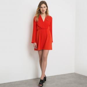 Платье плиссированное Carven x La Redoute. Цвет: черный