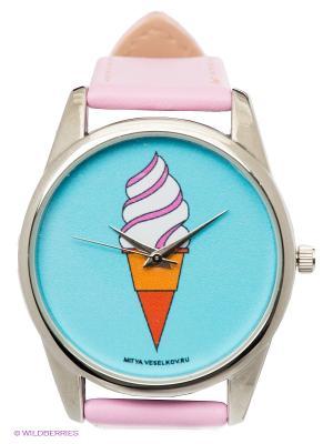 Часы Мороженое Mitya Veselkov. Цвет: розовый