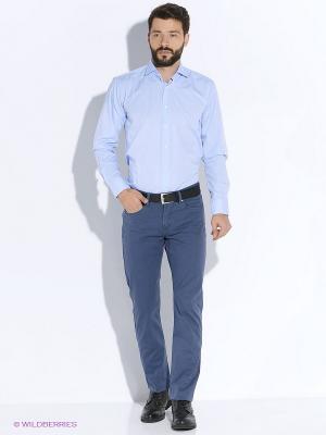Рубашка Forecast. Цвет: голубой