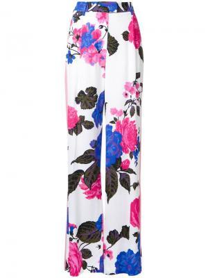 Брюки с цветочным принтом MSGM. Цвет: розовый и фиолетовый