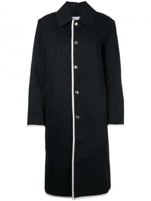 Пальто с контрастной окантовкой Mackintosh. Цвет: чёрный