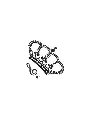 Временная переводная татуировка Корона МнеТату. Цвет: черный