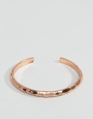 Icon Brand Золотисто-розовый металлический браслет-манжета. Цвет: золотой