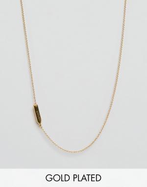 Gorjana Ожерелье со знаком зодиака Рак. Цвет: золотой