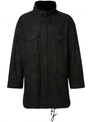 Камуфляжная куртка monkey time. Цвет: зелёный