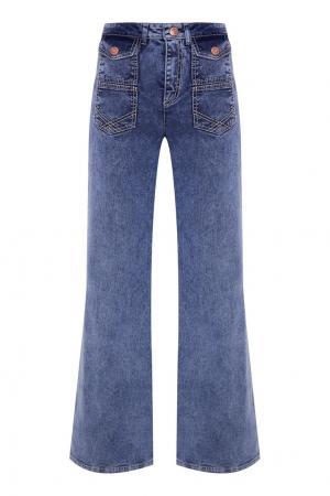 Широкие джинсы с карманами See By Chloé. Цвет: голубой