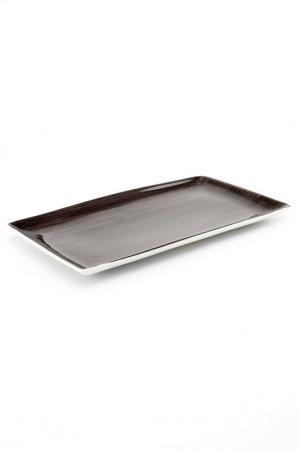 Тарелка, 28,5х16,5 см CONTINENTAL. Цвет: темно-серый