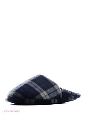 Тапочки Isotoner. Цвет: синий, серый, черный