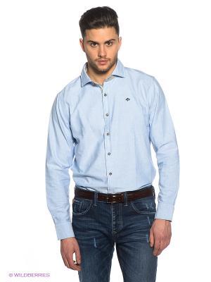 Рубашка Marville. Цвет: голубой, серый