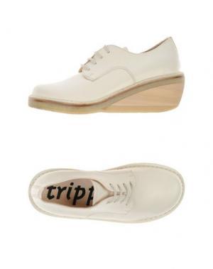 Обувь на шнурках TRIPPEN. Цвет: слоновая кость