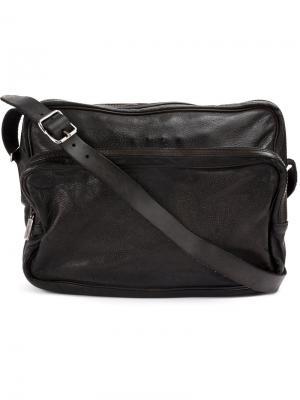 Текстурированная сумка-сэтчел Numero 10. Цвет: чёрный