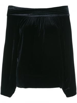 Блузка с открытыми плечами Marissa Webb. Цвет: синий