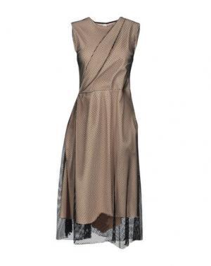 Платье длиной 3/4 SOUVENIR. Цвет: черный