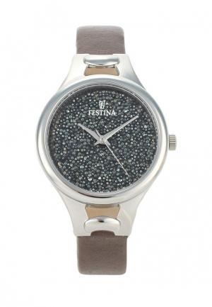 Часы Festina. Цвет: серый