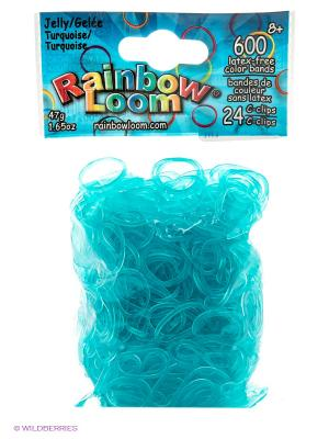 Гелевые резиночки Бирюзовый RAINBOWLOOM. Цвет: голубой