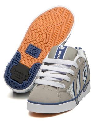 Роликовые кроссовки Heelys. Цвет: серый, белый