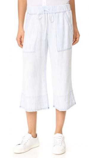Укороченные брюки с отвернутым нижним краем Bella Dahl. Цвет: shadow seams wash