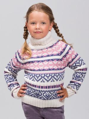 Свитер Viaggio bambini. Цвет: молочный, розовый, синий