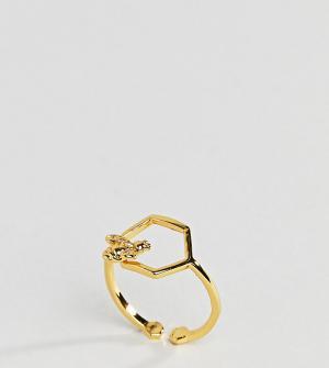 Bill Skinner Кольцо с шестиугольным дизайном. Цвет: золотой